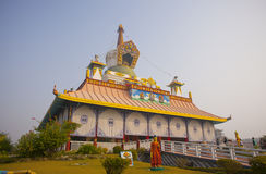 Tempels in Lumbini stock fotografie