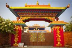 Tempels in Lumbini royalty-vrije stock foto's