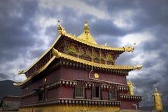 Tempels in Tibet stock afbeeldingen