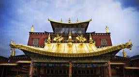 Tempels in Tibet stock foto's