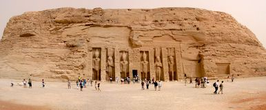 Tempels van Abu Simbel stock foto