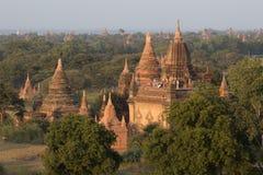 Tempels van Bagan Stock Afbeeldingen