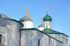 Tempels van Blagoveschensky-klooster in Nizhny Novgorod Stock Afbeelding