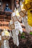 Tempels van de Aziatische lantaarns van Thailand stock fotografie