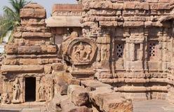 Tempels van India Voorbeeld van Indische architectuur in Pattadakal, Unesco-de plaats van de Werelderfenis Stock Foto's