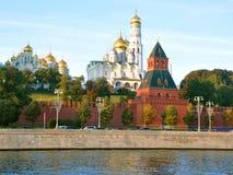 Tempels van Moskou het Kremlin Rusland Stock Afbeeldingen