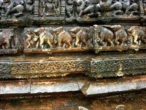 Tempelschnitzen Stockfotos