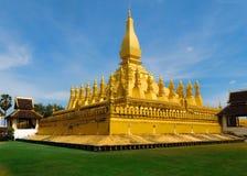 Tempelsikt på Laos Royaltyfria Bilder