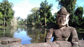 Tempelskulptur Siem Reap Kambodscha Stockbilder