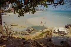Tempelstandpunkt von Hua Hin Beach Lizenzfreies Stockbild