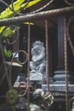 Tempelstaty i Bali Arkivfoto
