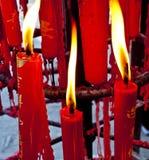 Tempelstearinljus Royaltyfri Bild