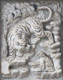 Tempelsteinschnitzen. Stockbilder