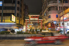 Tempelstraat in Hong Kong-stad Stock Foto
