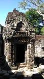 Tempeltür Siem Reap Kambodscha Lizenzfreie Stockbilder