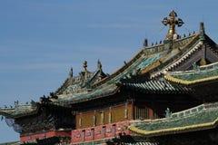 Tempeltak i Erdene Zuu Royaltyfri Bild