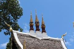 Tempeltak med trädet Royaltyfria Foton