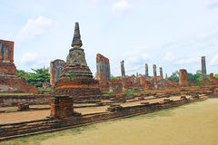 Tempeltempel Yai Chaimongkol in Ayutthaya Provibce Stockbilder