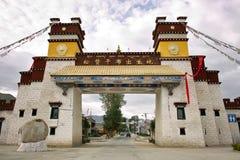 Tempeltorn i Tibet Arkivbilder