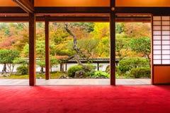 Tempelträdgård i Japan Royaltyfria Bilder