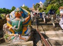 Tempeltreppe Swayambhunath oder des Affen, Kathmandu, Nepal Stockfotografie