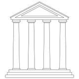 tempelvektor vektor illustrationer