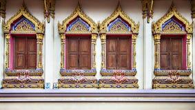 Tempelvensters Royalty-vrije Stock Fotografie