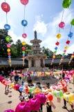 Tempelviering voor de verjaardag van Boedha Royalty-vrije Stock Afbeeldingen