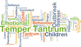 Temper tantrum background concept Royalty Free Stock Image