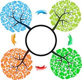 Tempera a árvore com setas Fotografia de Stock Royalty Free