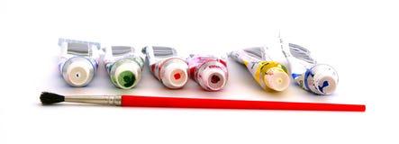 tempera χρωμάτων βουρτσών Στοκ εικόνα με δικαίωμα ελεύθερης χρήσης