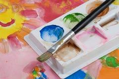 Tempera Painting Stock Photo