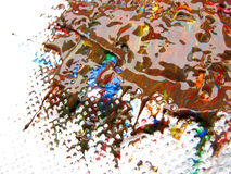 Tempera paints Stock Photo