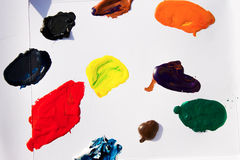 Tempera Paints Stains on Paper Stock Image