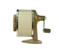 Temperamatite isolato con il percorso di residuo della potatura meccanica Fotografia Stock