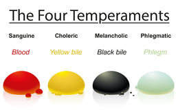 Temperaments Four Humors Drops Royalty Free Stock Photos
