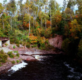 Temperance River Autumn Highlights - Minnesota Stock Image