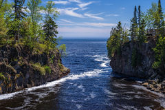 Temperance river, lake superior Stock Photos