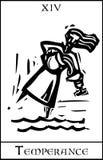 Temperance Tarot Card stock illustration