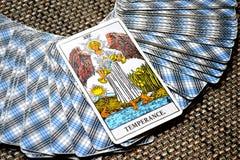 Temperance Tarot Card healing harmony adaptability. Temperance tarot card brings healing harmony adaptability balance maintaining a strong sense of equilibrium Royalty Free Stock Images