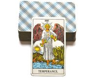 Temperance Tarot Card healing harmony adaptability. Temperance tarot card brings healing harmony adaptability balance maintaining a strong sense of equilibrium royalty free illustration