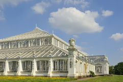 Temperate House, Kew. View of section of the  Victorian Temperate Glass House. Kew Gardens, currently closed for restoration Stock Photo