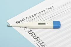 Temperatur-Diagramm Stockfoto