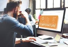 Temperatur-Hitze-heißes Wetter-Klima-Konzept Stockfoto