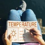 Temperatur-Hitze-heißes Wetter-Klima-Konzept Lizenzfreies Stockfoto