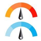 Temperatur-Meter-Vektor-Illustration Lizenzfreies Stockbild