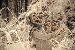 Temperatur och att frysa, kallt knäpp, snöfall royaltyfri bild