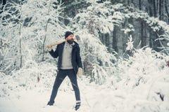Temperatur och att frysa, kallt kn?pp, sn?fall fotografering för bildbyråer