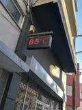 Temperatura creciente de la ciudad foto de archivo libre de regalías