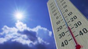 Temperatura del aire cae a -40 menos cuarenta grados centígrado, primer del termómetro La previsión metereológica relacionó 3D ilustración del vector